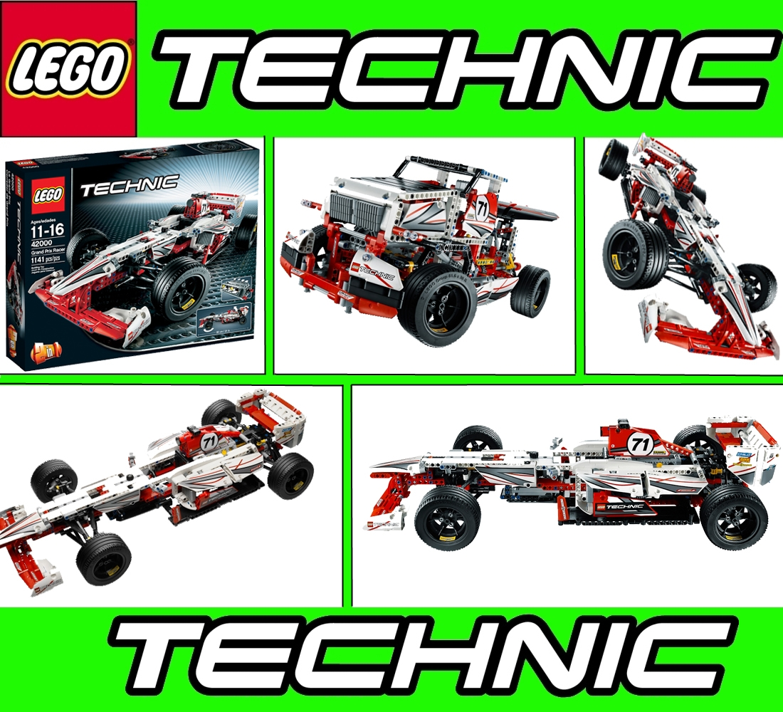 lego technic 2 in 1 42000 grand prix racer formula 1. Black Bedroom Furniture Sets. Home Design Ideas