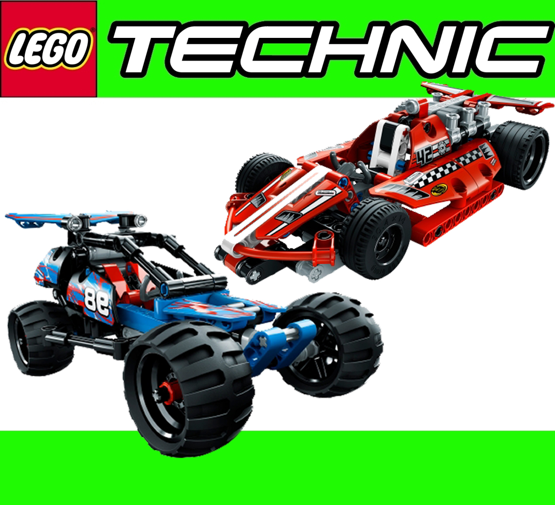 lego technic action race buggy 42010 action rennwagen 42011 binsb ebay. Black Bedroom Furniture Sets. Home Design Ideas