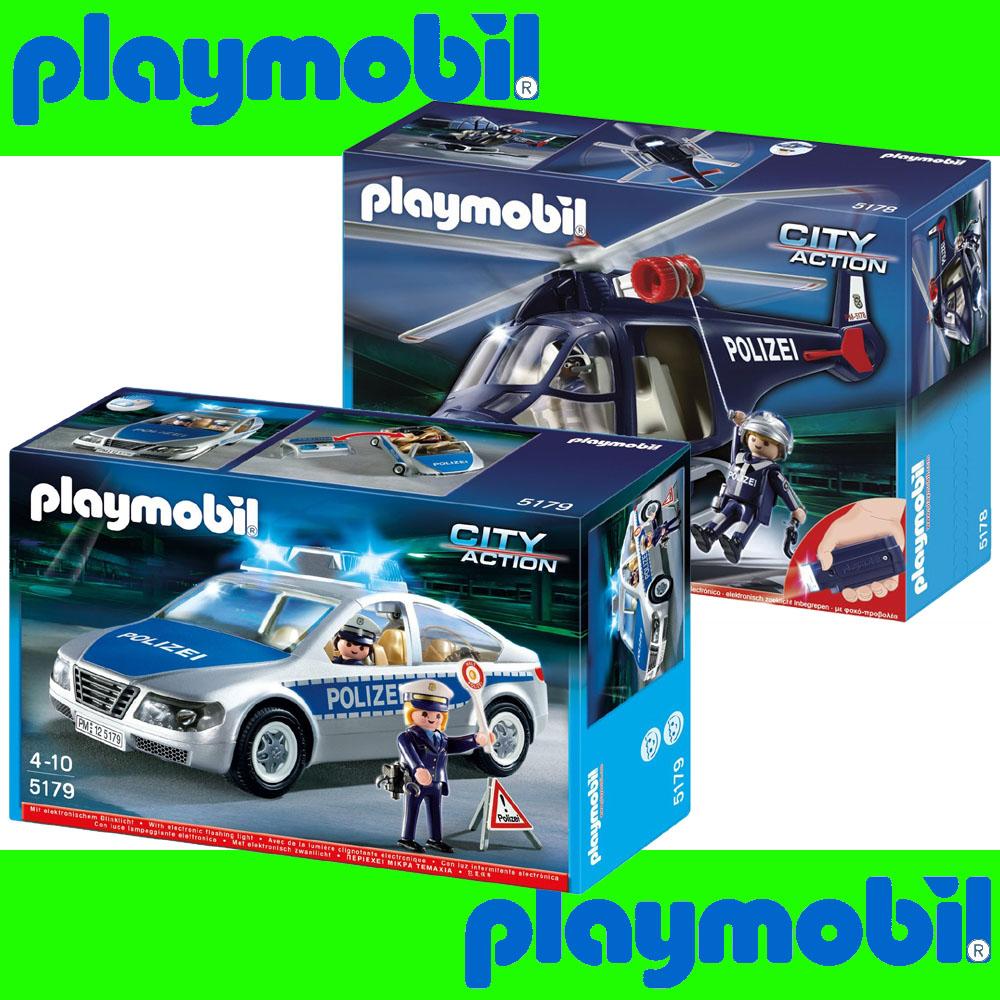 Elicottero Playmobil : Playmobil elicottero polizia fari led