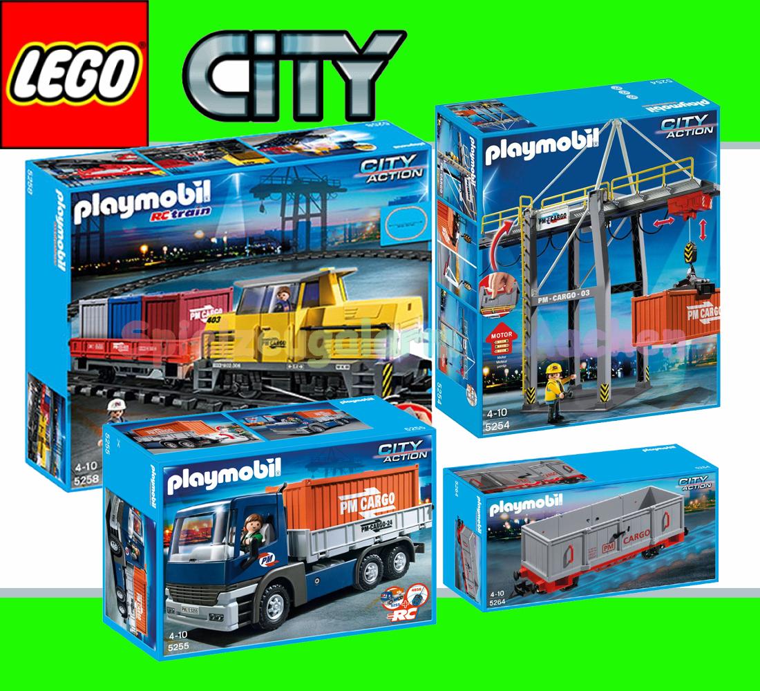 Playmobil 5258 rc train set 5254 freight wagon 5264 - Train playmobil ...