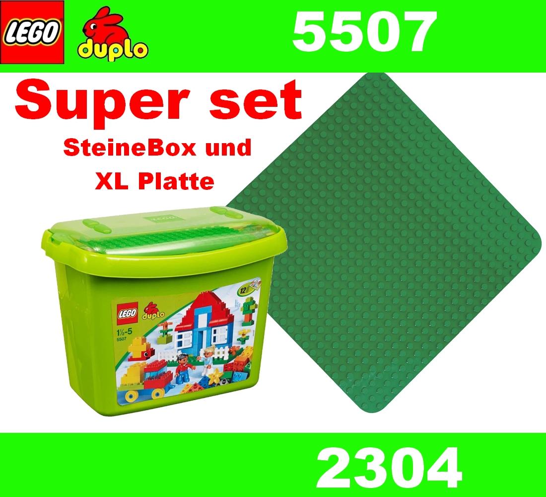 Lego duplo 5507 steinebox mit 12 ideen heft 2304 gr ne - Lego duplo ideen ...