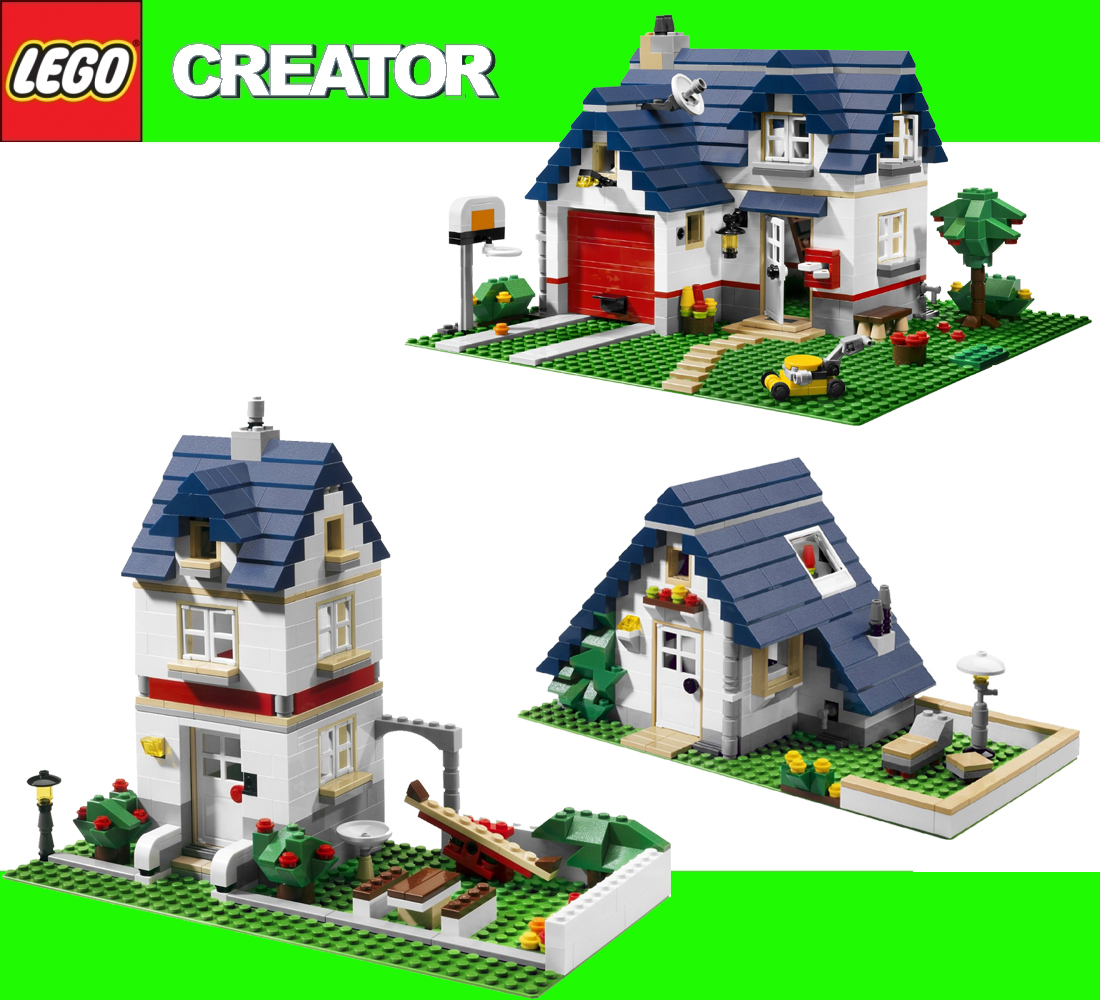 neu lego creator 5891 haus mit garage apple tree house ebay. Black Bedroom Furniture Sets. Home Design Ideas