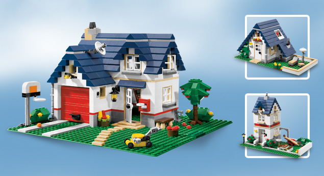 Neu lego creator 5891 haus mit garage apple tree house ebay for Modernes lego haus
