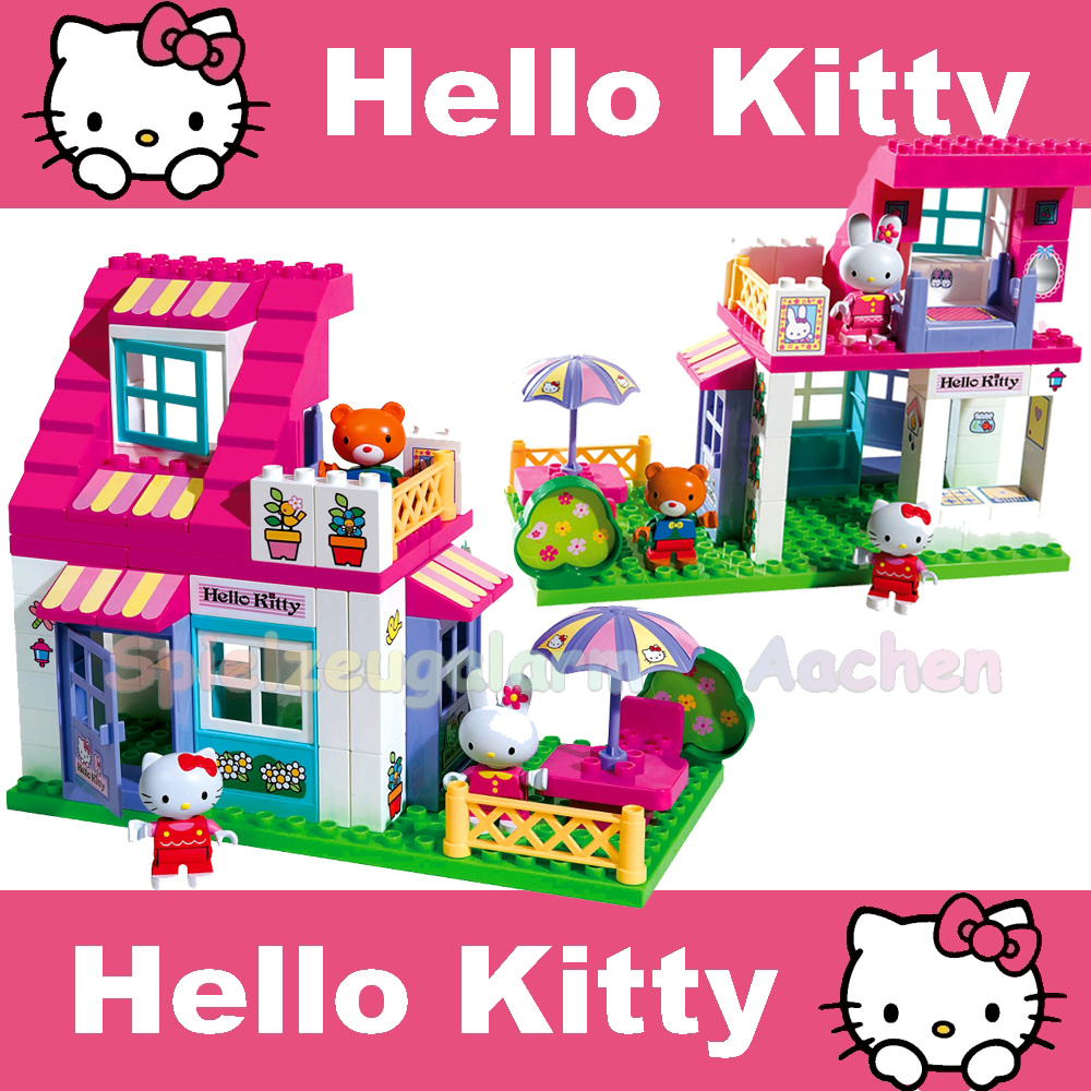 big 57013 playbig bloxx haus hello kitty kompatible. Black Bedroom Furniture Sets. Home Design Ideas