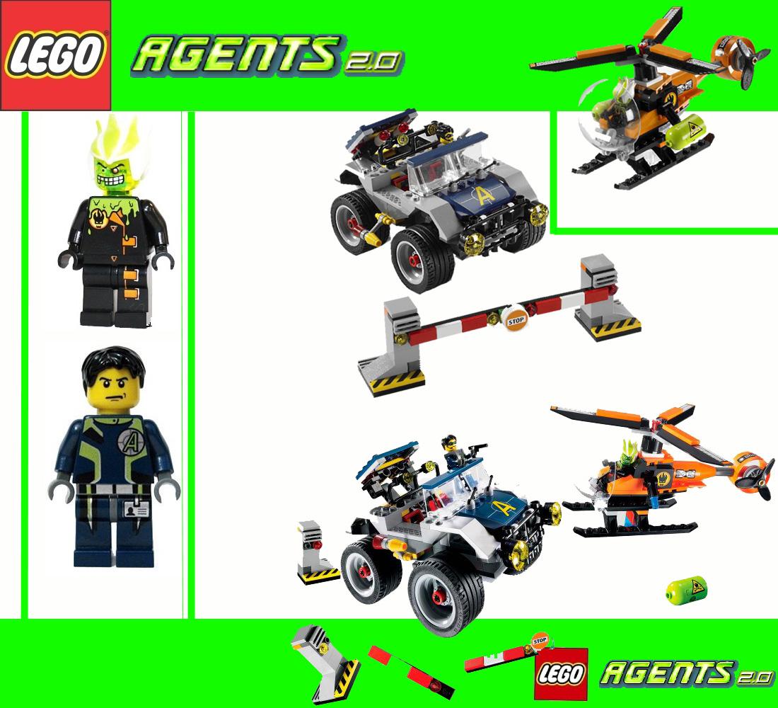 lego agents 8969 new 2 0 car chase four wheeler wheeling pursuit bnisb ebay. Black Bedroom Furniture Sets. Home Design Ideas