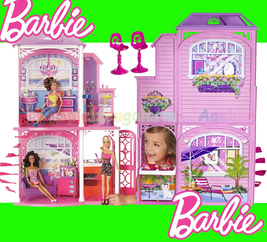 barbie strandhaus haus w3155 beach house nuova casa vacaciones glam maison ebay. Black Bedroom Furniture Sets. Home Design Ideas