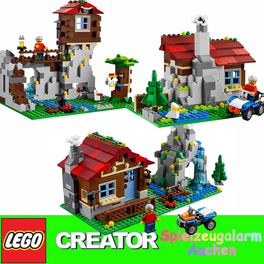 lego 31025 creator 3in1 bergh tte bergwarte blockhaus mountain hut mountaintop ebay. Black Bedroom Furniture Sets. Home Design Ideas