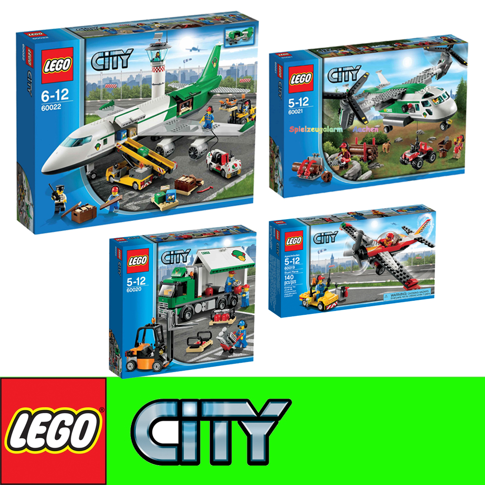 lego city set 60019 60020 60021 60022 aereo acrobatico. Black Bedroom Furniture Sets. Home Design Ideas