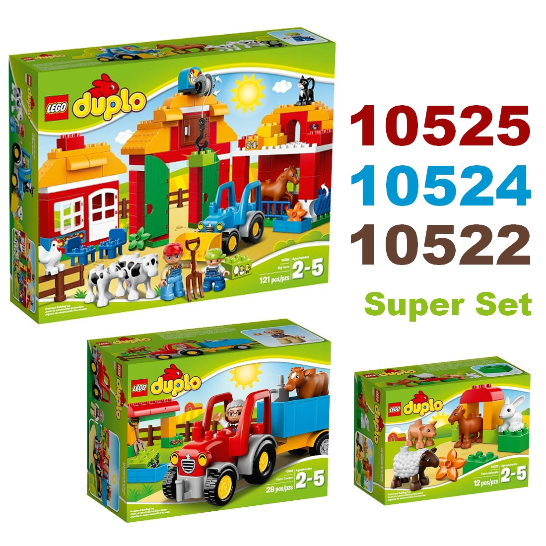 Duplo Lego Angebote Auf Waterige 10593 Fire Station 2014 Set 10525 10524 10522 Groer Bauernhof Big Farm