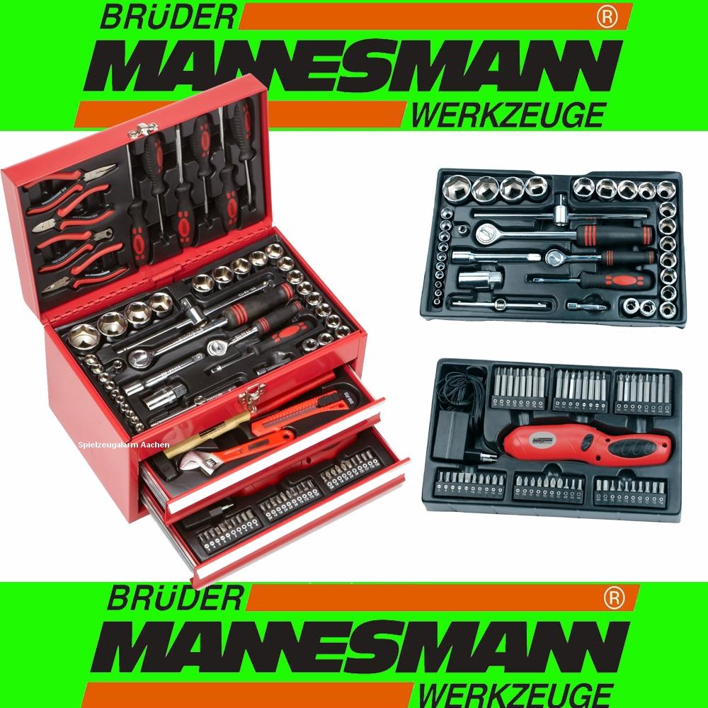 mannesmann 29066 malet n de herramientas misil stica werkstattbox caja de herramientas 155tlg. Black Bedroom Furniture Sets. Home Design Ideas