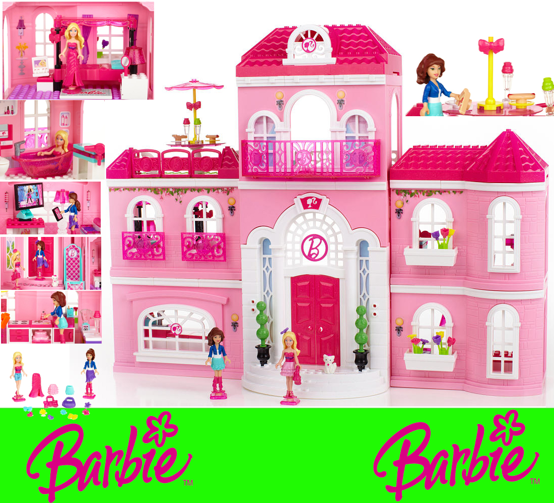 barbie luxusvilla mega bloks 80229 luxury mansion mansion. Black Bedroom Furniture Sets. Home Design Ideas