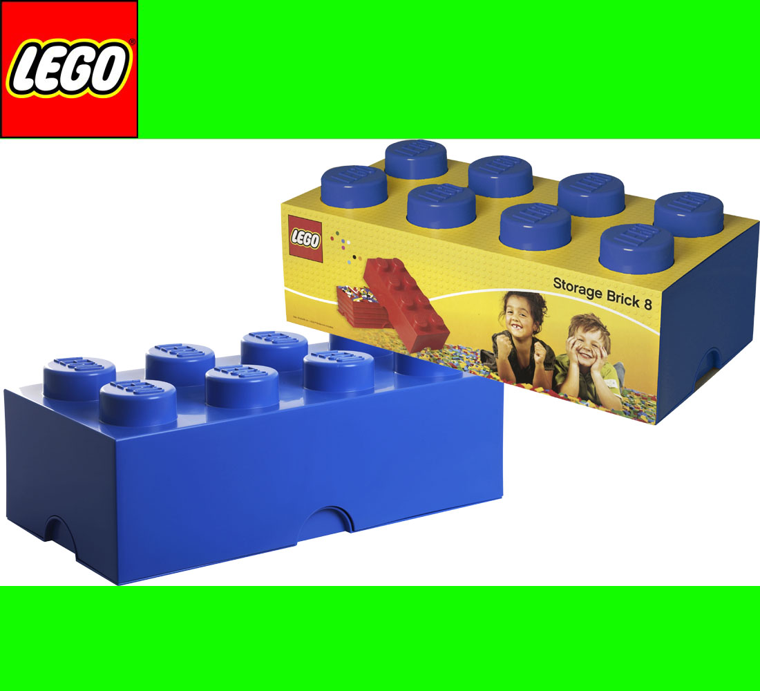 lego storage brick 8 blau blue 2x4 aufbewahrung dose xxl box kiste ebay. Black Bedroom Furniture Sets. Home Design Ideas