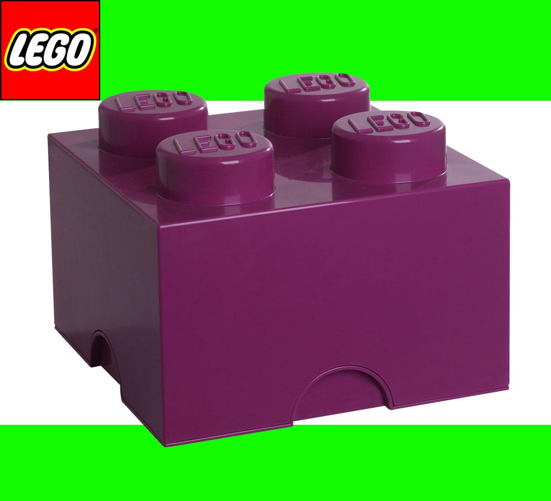 neu lego storage brick 4 dark pink lila stein 2x2 aufbewahrung dose xl box kiste ebay. Black Bedroom Furniture Sets. Home Design Ideas