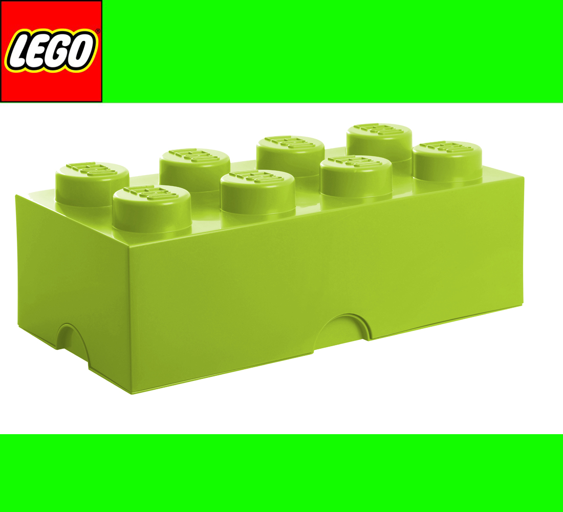 lego storage brick 8 light green hellgr n stein 2x4 aufbewahrung box kiste ebay. Black Bedroom Furniture Sets. Home Design Ideas