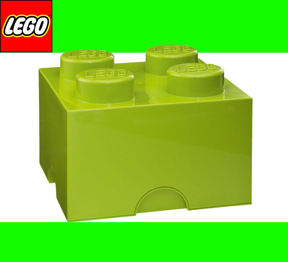 neu lego storage brick 4 light green hellgr n stein 2x2 aufbewahrung box kiste ebay. Black Bedroom Furniture Sets. Home Design Ideas