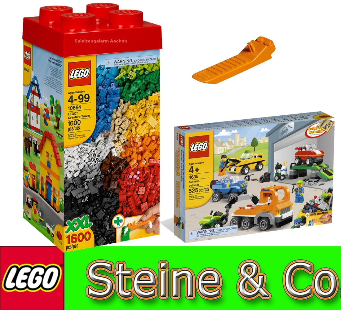lego steine co set 10664 xxl steinebox 4635 bausteine fahrzeuge 630 separator ebay. Black Bedroom Furniture Sets. Home Design Ideas
