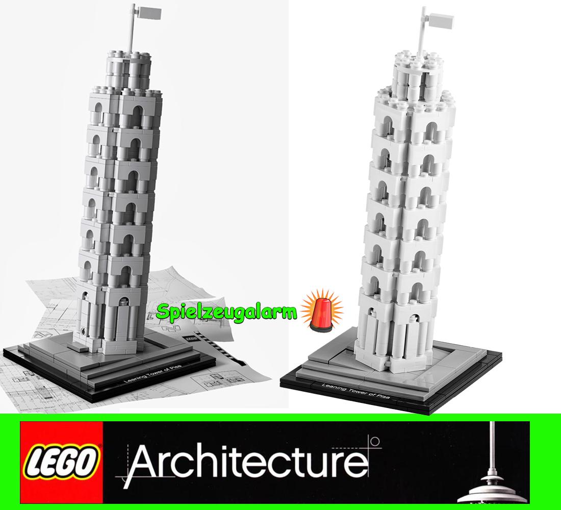lego 21015 architecture der schiefe turm von pisa the leaning tower la tour 2xac ebay. Black Bedroom Furniture Sets. Home Design Ideas