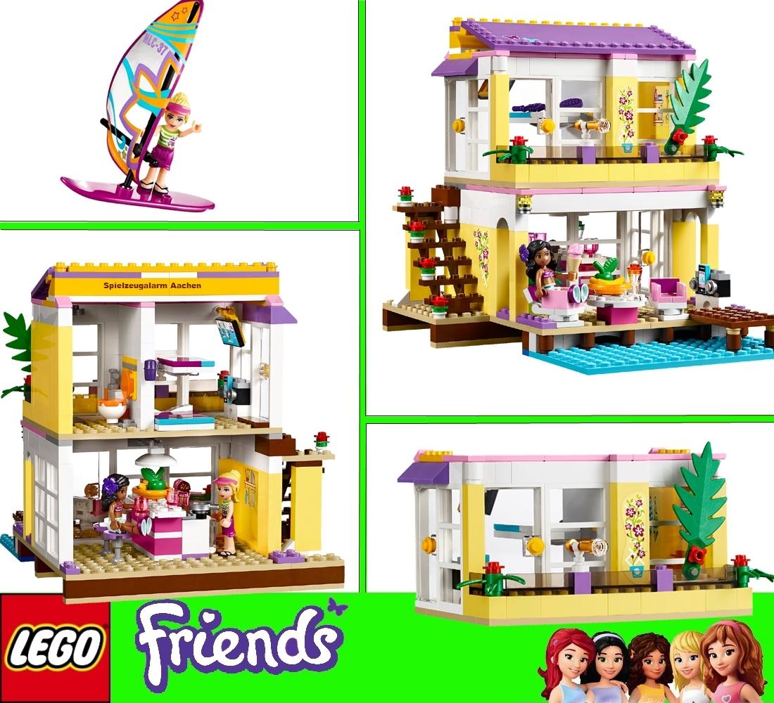 lego 41037 friends stephanie maison de plage beach house. Black Bedroom Furniture Sets. Home Design Ideas
