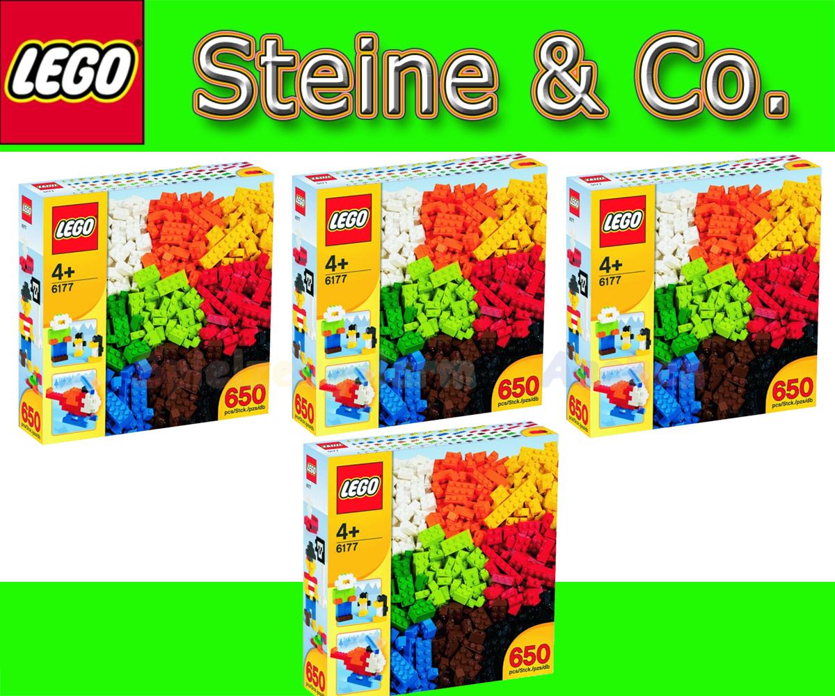 lego 4 x 6177 steinebox 2600 steine deluxe bricks briques. Black Bedroom Furniture Sets. Home Design Ideas