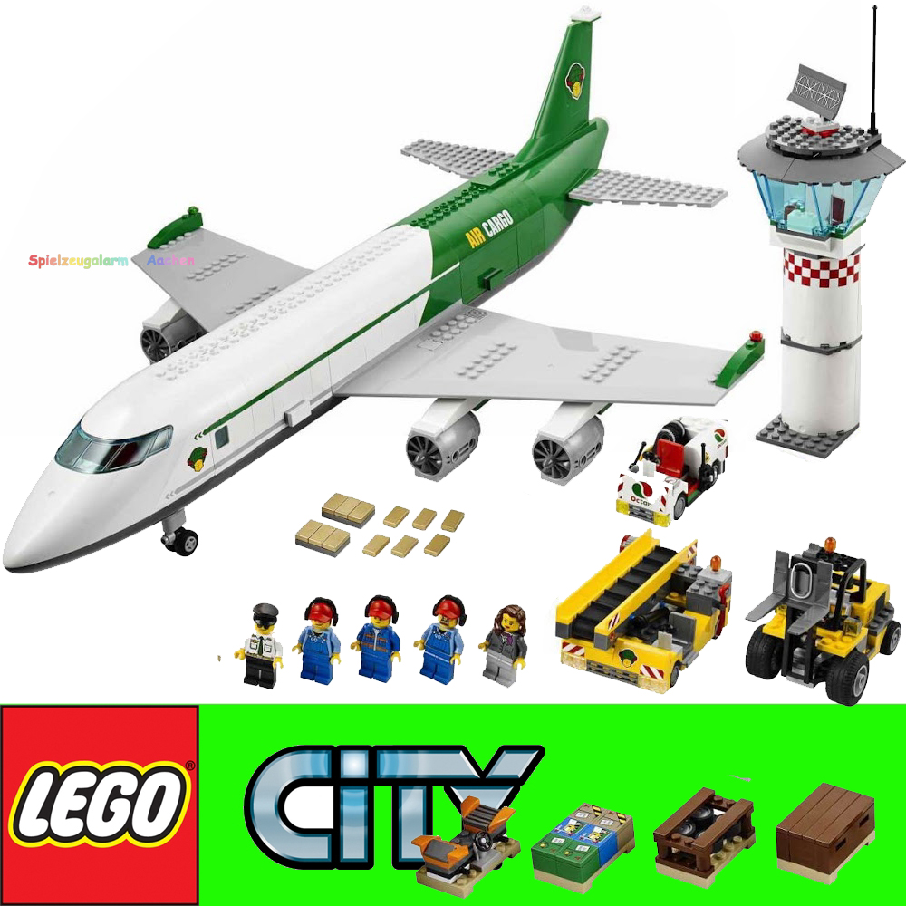 lego city 60022 terminal dell 39 aeroporto merci airport aereo cargo l 39 aereo ebay. Black Bedroom Furniture Sets. Home Design Ideas
