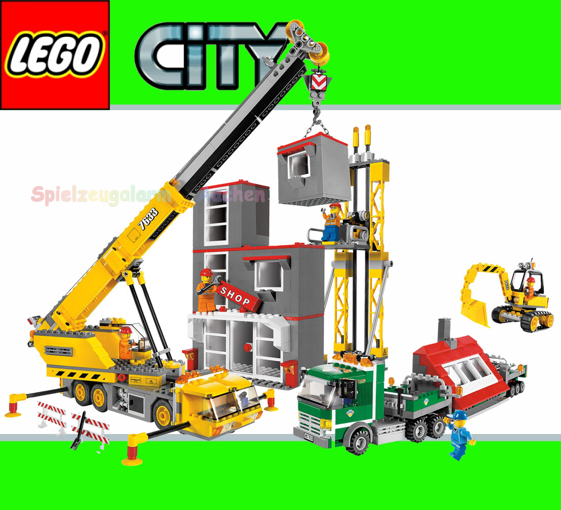 construction site lego city construction site 7633. Black Bedroom Furniture Sets. Home Design Ideas