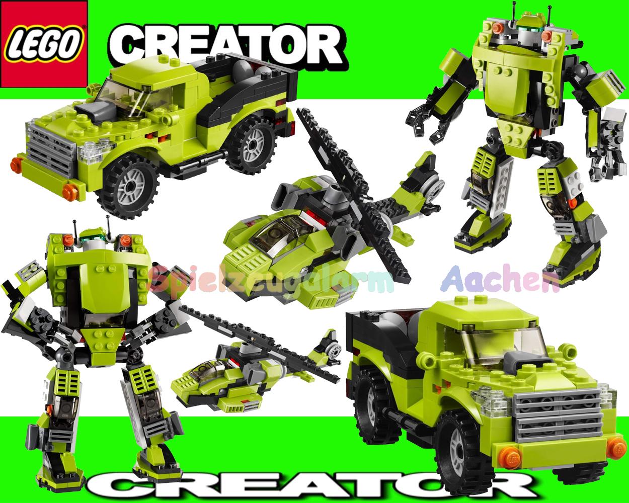lego creator 31007 3 in 1 modelle power roboter helikopter. Black Bedroom Furniture Sets. Home Design Ideas