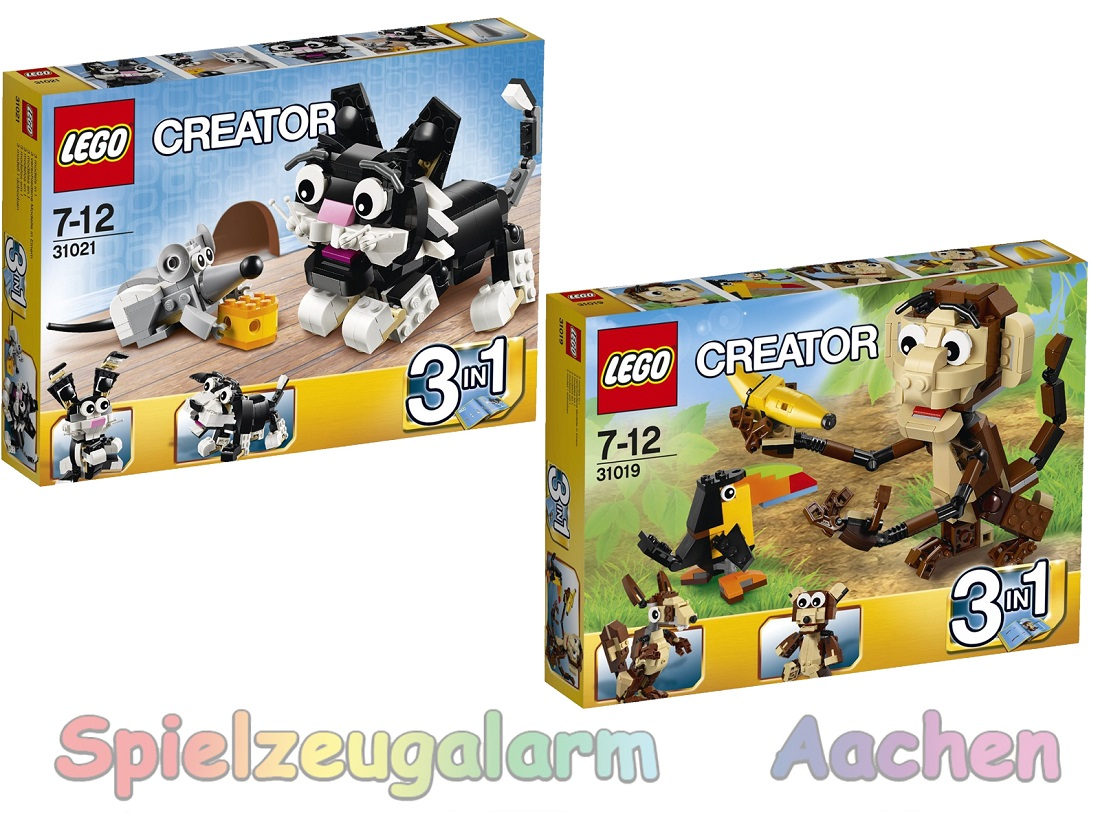 lego 6in2 modell creator 31021 31019 katze maus urwald tiere affe tukan teddy ebay. Black Bedroom Furniture Sets. Home Design Ideas