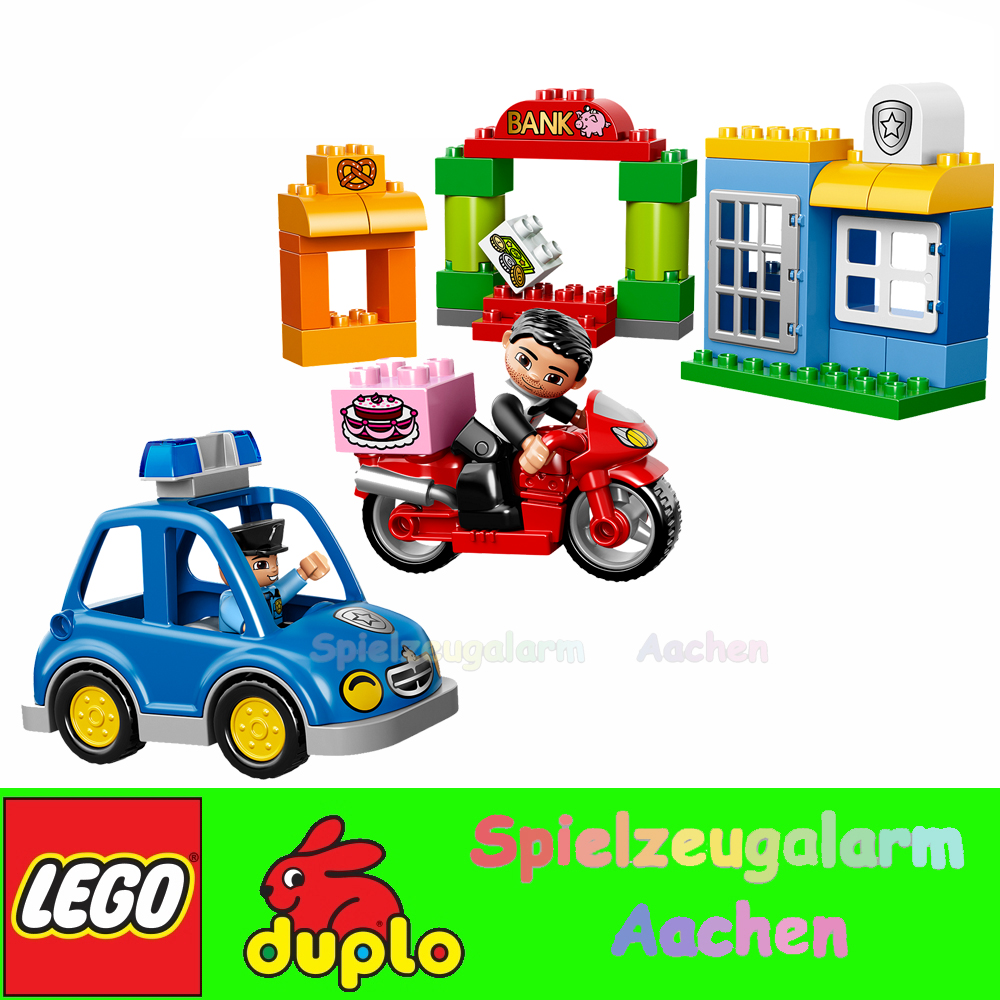 lego 10532 duplo polizeiverfolgung mit dieb my first police set l 39 intervention ebay. Black Bedroom Furniture Sets. Home Design Ideas