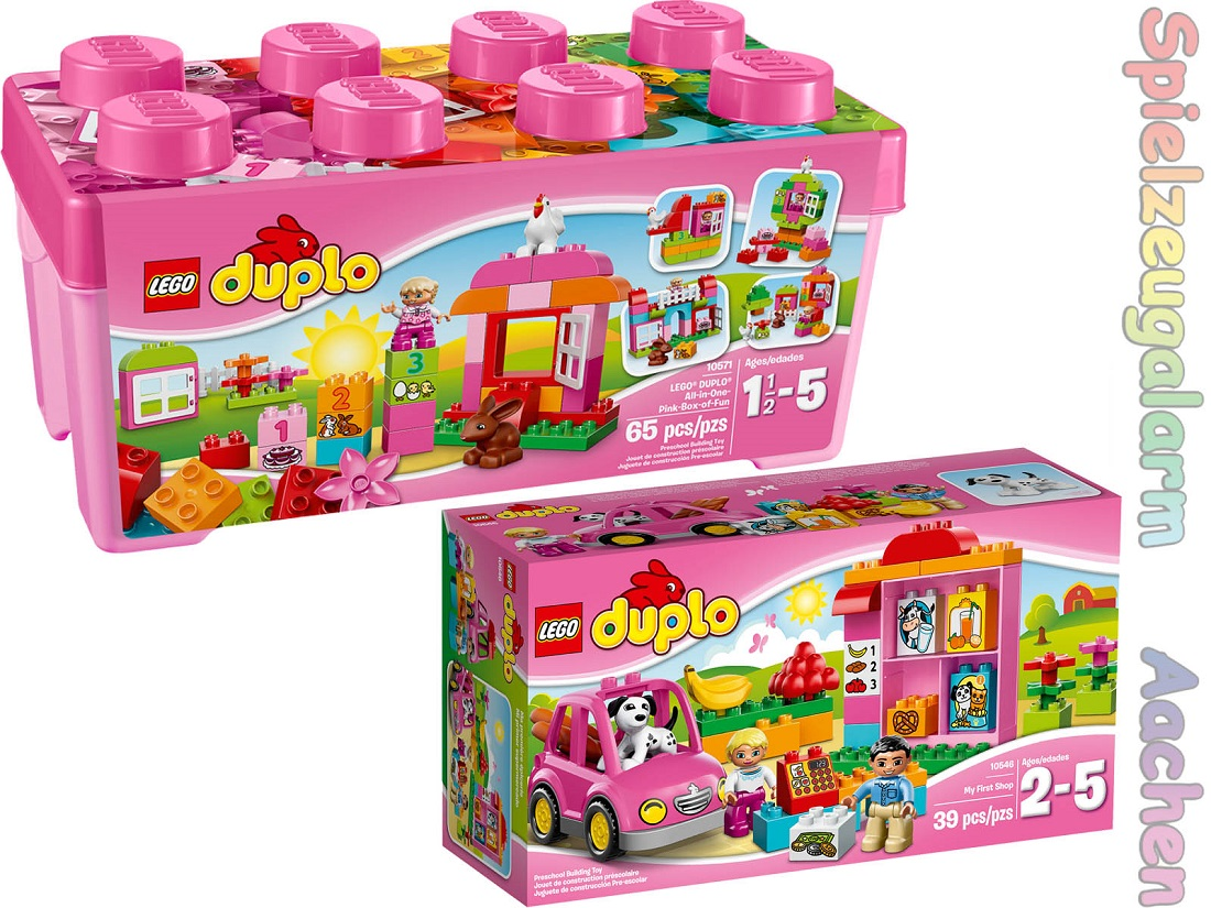 lego duplo set 10571 gro e steinebox m dchen 10546 supermarkt my first shop le s ebay. Black Bedroom Furniture Sets. Home Design Ideas