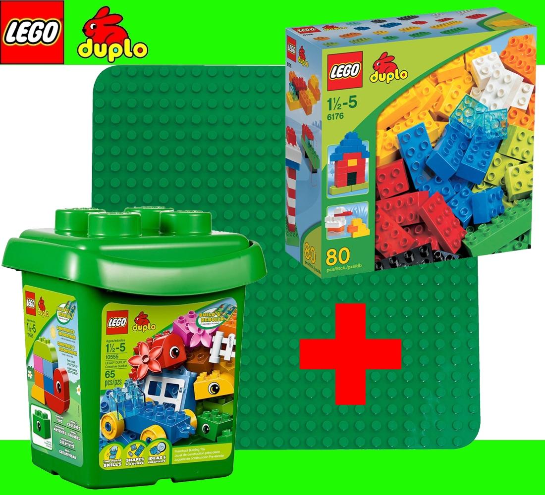 Lego duplo set 10555 blocks bucket 2304 green building - Notice de construction lego ...