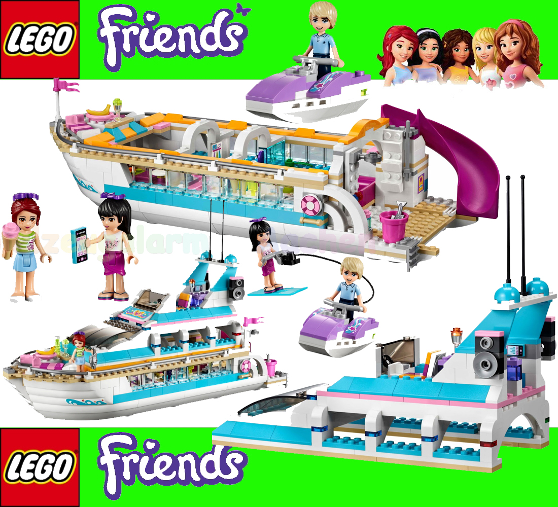 lego friends 41015 yacht dolphin cruiser with mia maya andrew 673419189972 ebay. Black Bedroom Furniture Sets. Home Design Ideas