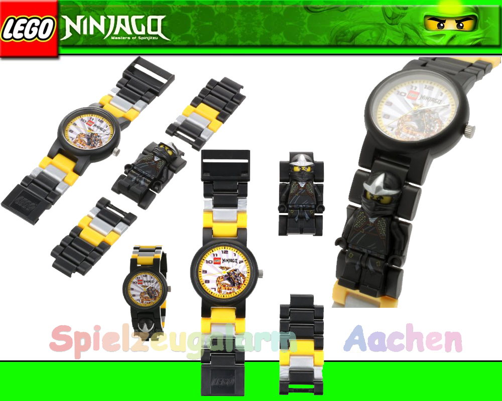 lego ninjago kendo cole kinderuhr 9006821 armbanduhr uhr. Black Bedroom Furniture Sets. Home Design Ideas