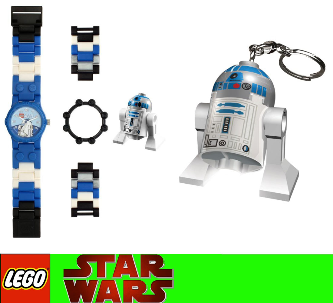 lego star wars r2 d2 armbanduhr mit figur taschenlampe. Black Bedroom Furniture Sets. Home Design Ideas