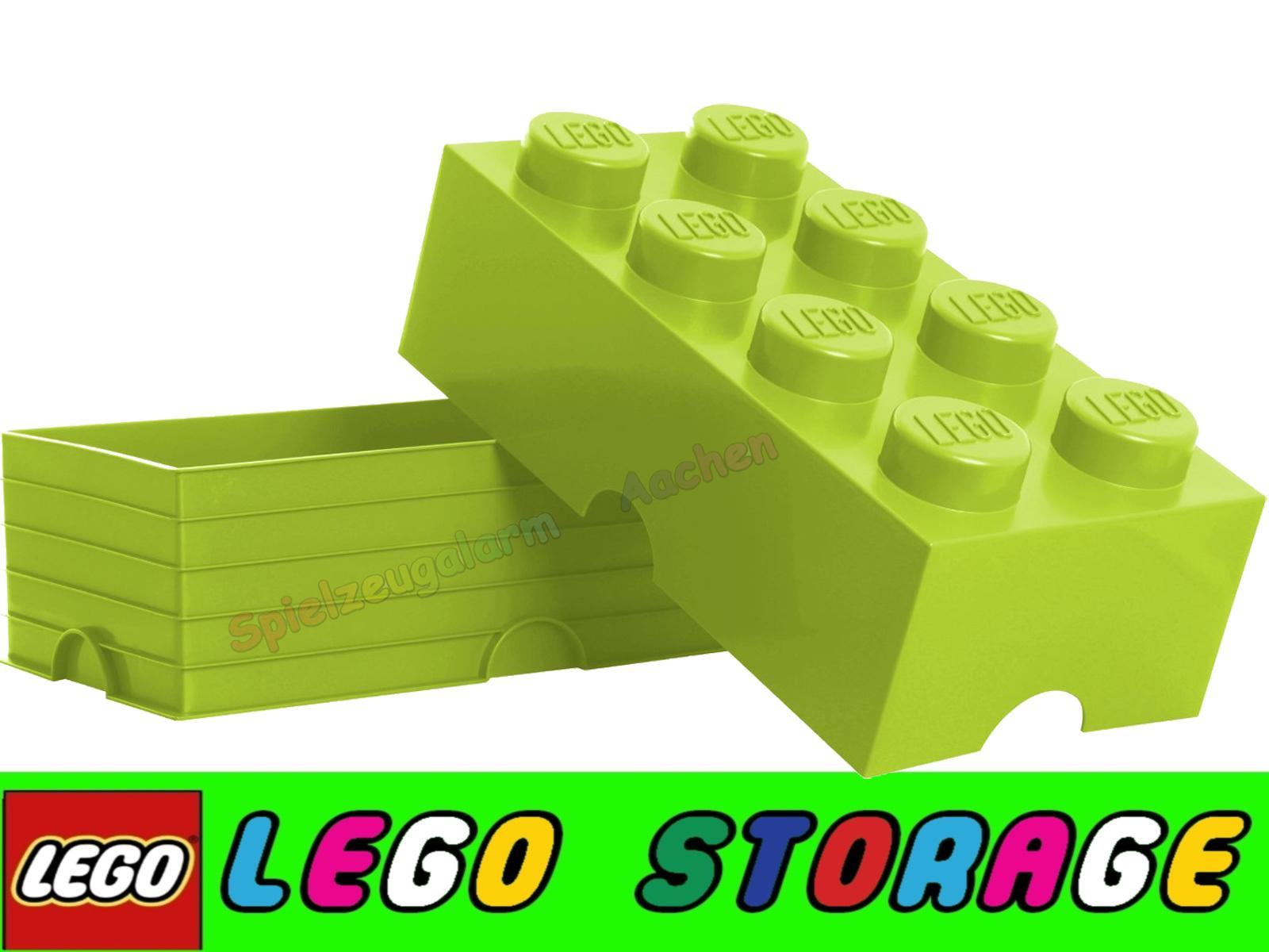 lego storage brick 8 hellgr n stein 2x4 aufbewahrung dose xxl box kiste light green spielzeugalarm. Black Bedroom Furniture Sets. Home Design Ideas