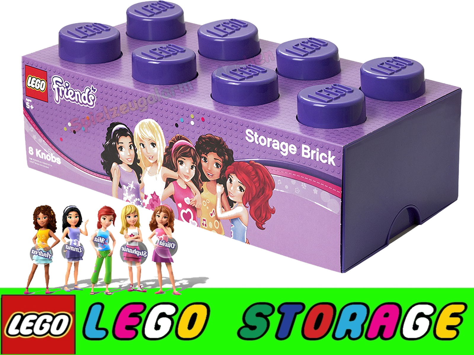 lego storage brick 8 friends lila stein 2x4 aufbewahrung dose xxl box kiste spielzeugalarm. Black Bedroom Furniture Sets. Home Design Ideas
