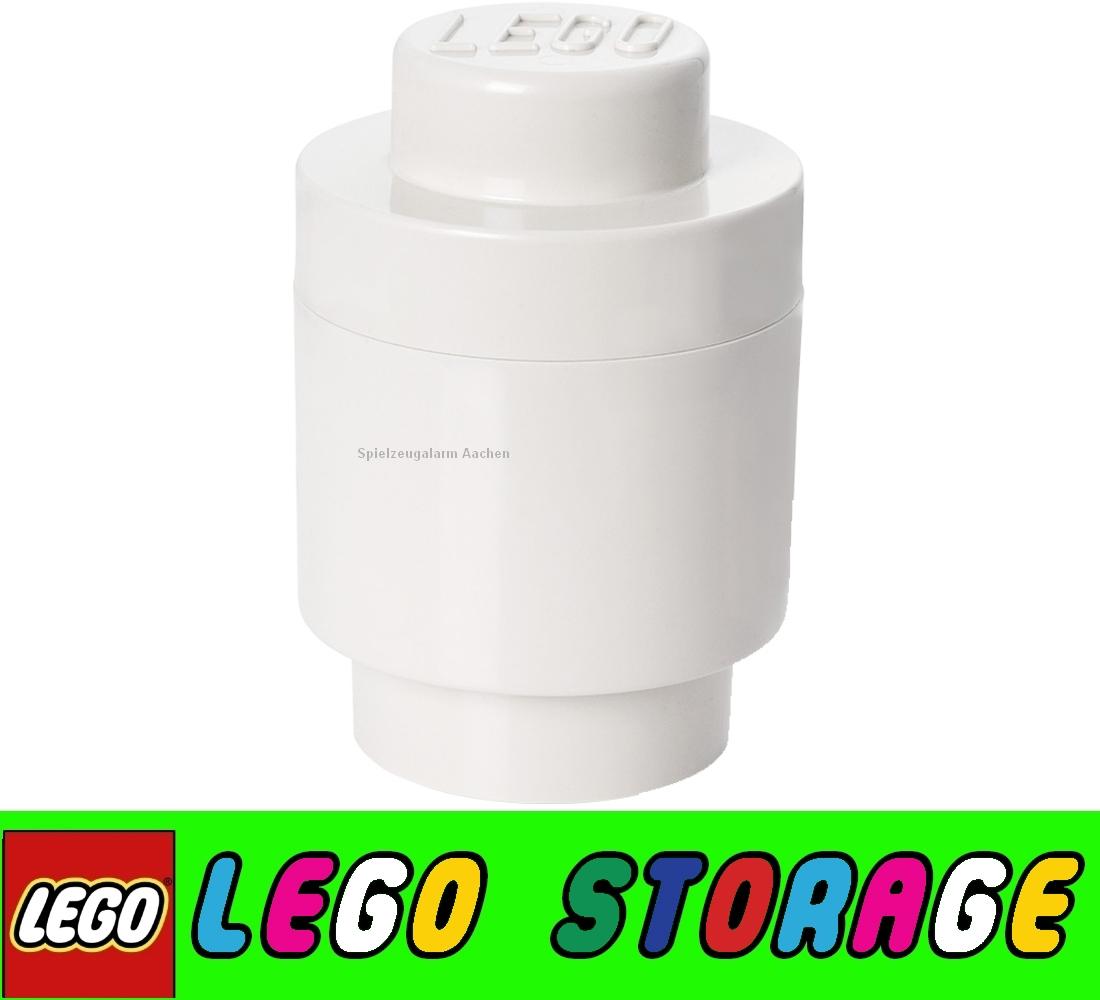 lego storage brick weiss rund aufbewahrungsbox brotdose. Black Bedroom Furniture Sets. Home Design Ideas