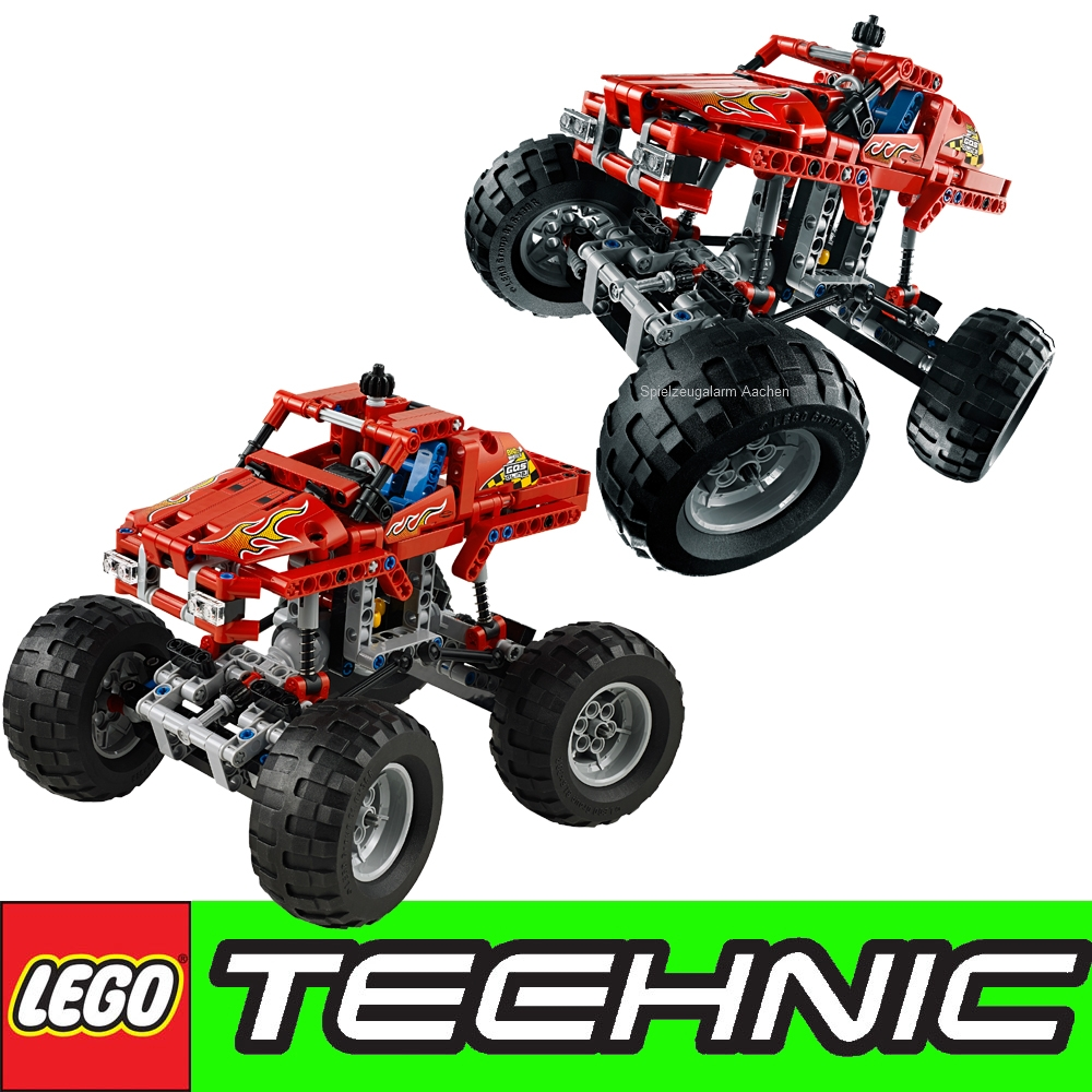 lego technic monster truck dune buggy with rear suspension and spoiler 42005 ebay. Black Bedroom Furniture Sets. Home Design Ideas