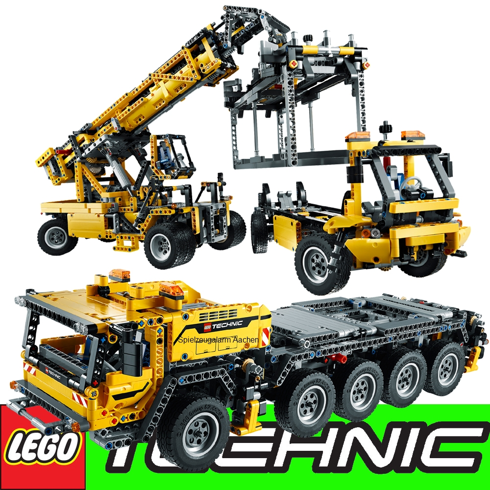 lego technic set 42009 mobile heavy duty crane 42008 tow. Black Bedroom Furniture Sets. Home Design Ideas