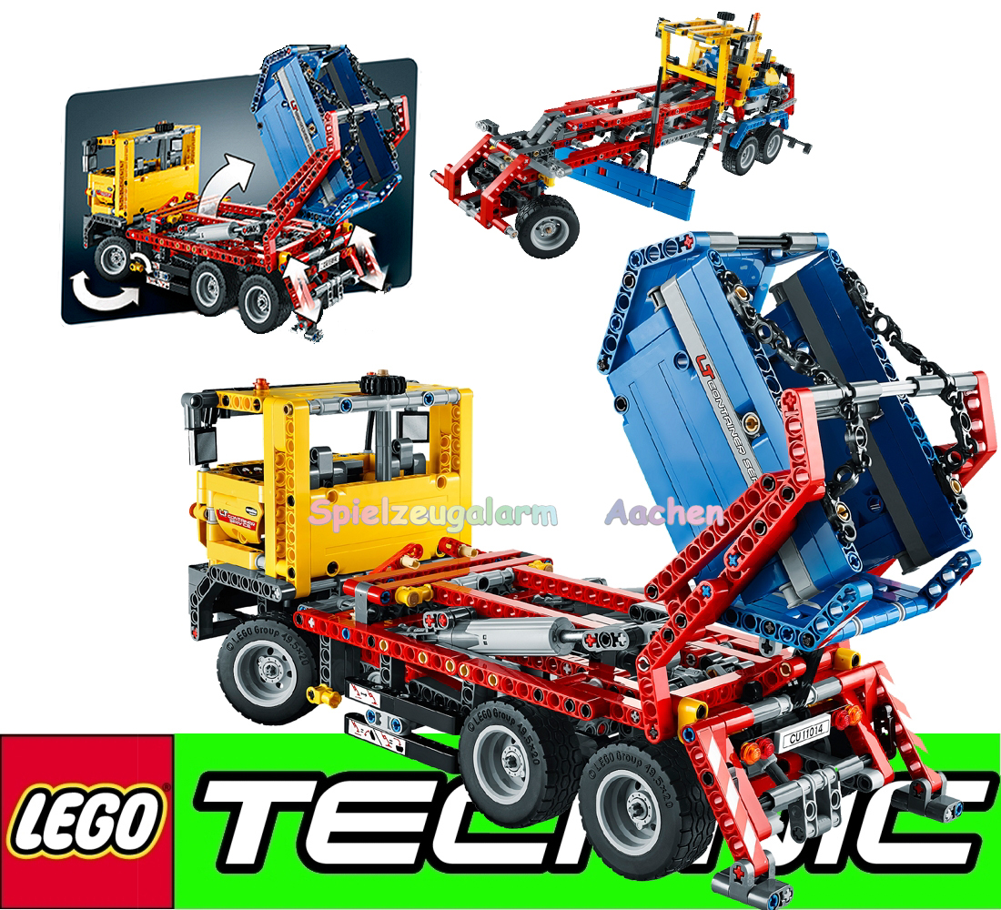 lego technic 42024 8293 container truck licht und motor power functions ebay. Black Bedroom Furniture Sets. Home Design Ideas