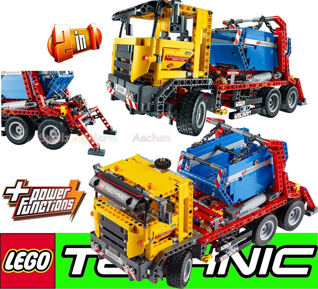 lego technic 42024 8293 container truck licht und motor. Black Bedroom Furniture Sets. Home Design Ideas