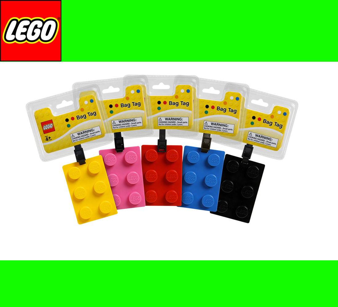 lego bag tag kofferanh nger namensschild schulranzen legostein freie farbwahl ebay. Black Bedroom Furniture Sets. Home Design Ideas