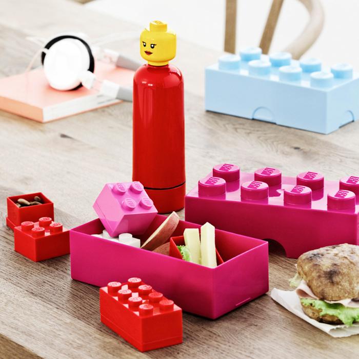 lego storage trinkflaschen brotdosen mini snackbox 4er und. Black Bedroom Furniture Sets. Home Design Ideas