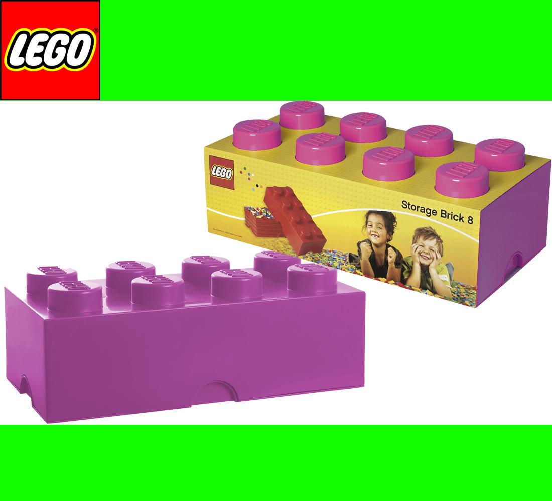 lego storage brick 8 pink stein 2x4 aufbewahrung dose xxl box kiste ebay. Black Bedroom Furniture Sets. Home Design Ideas