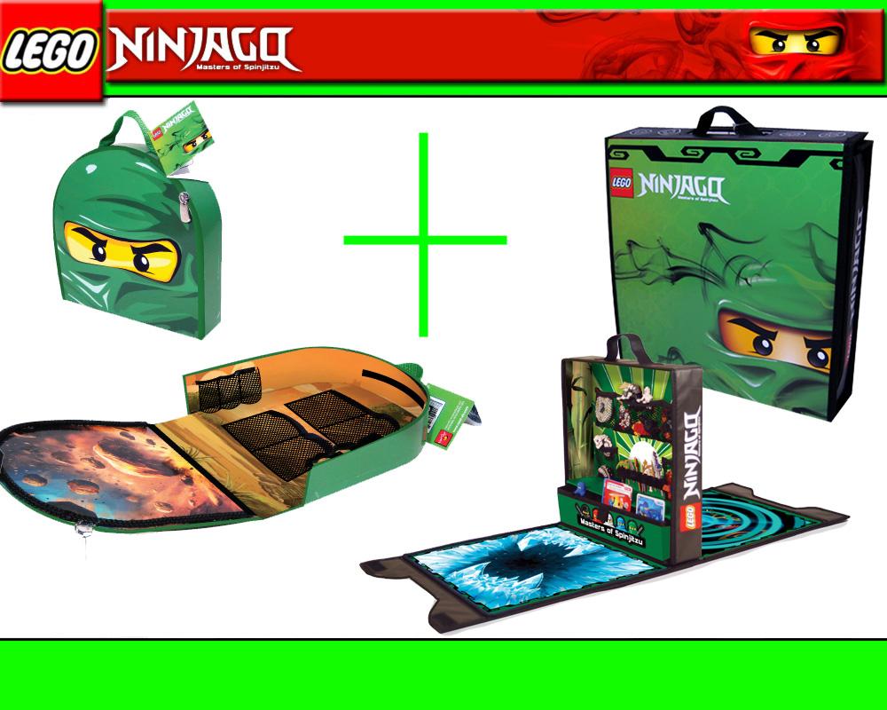 lego ninjago set 2in1 kofferchen grun tasche koffer. Black Bedroom Furniture Sets. Home Design Ideas
