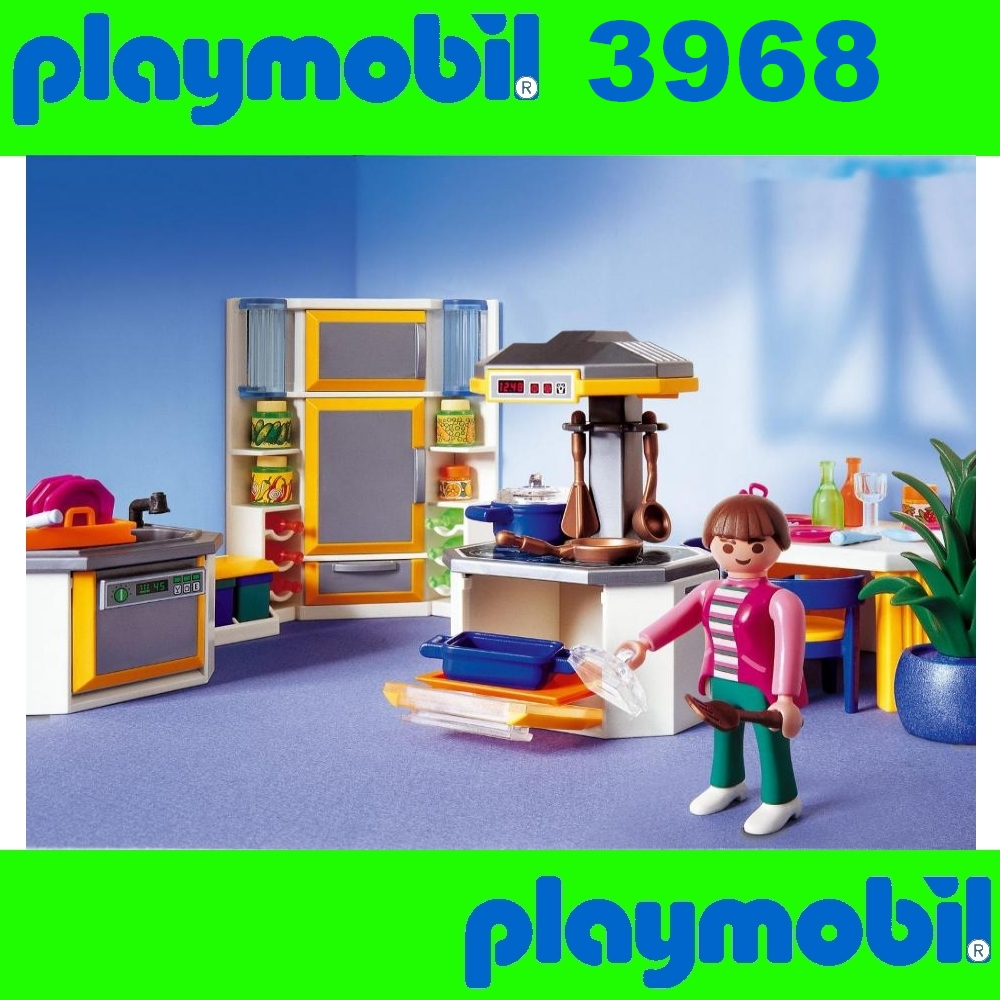 neu playmobil 3968 einbauk che k che modern kitchen bnisb ebay. Black Bedroom Furniture Sets. Home Design Ideas