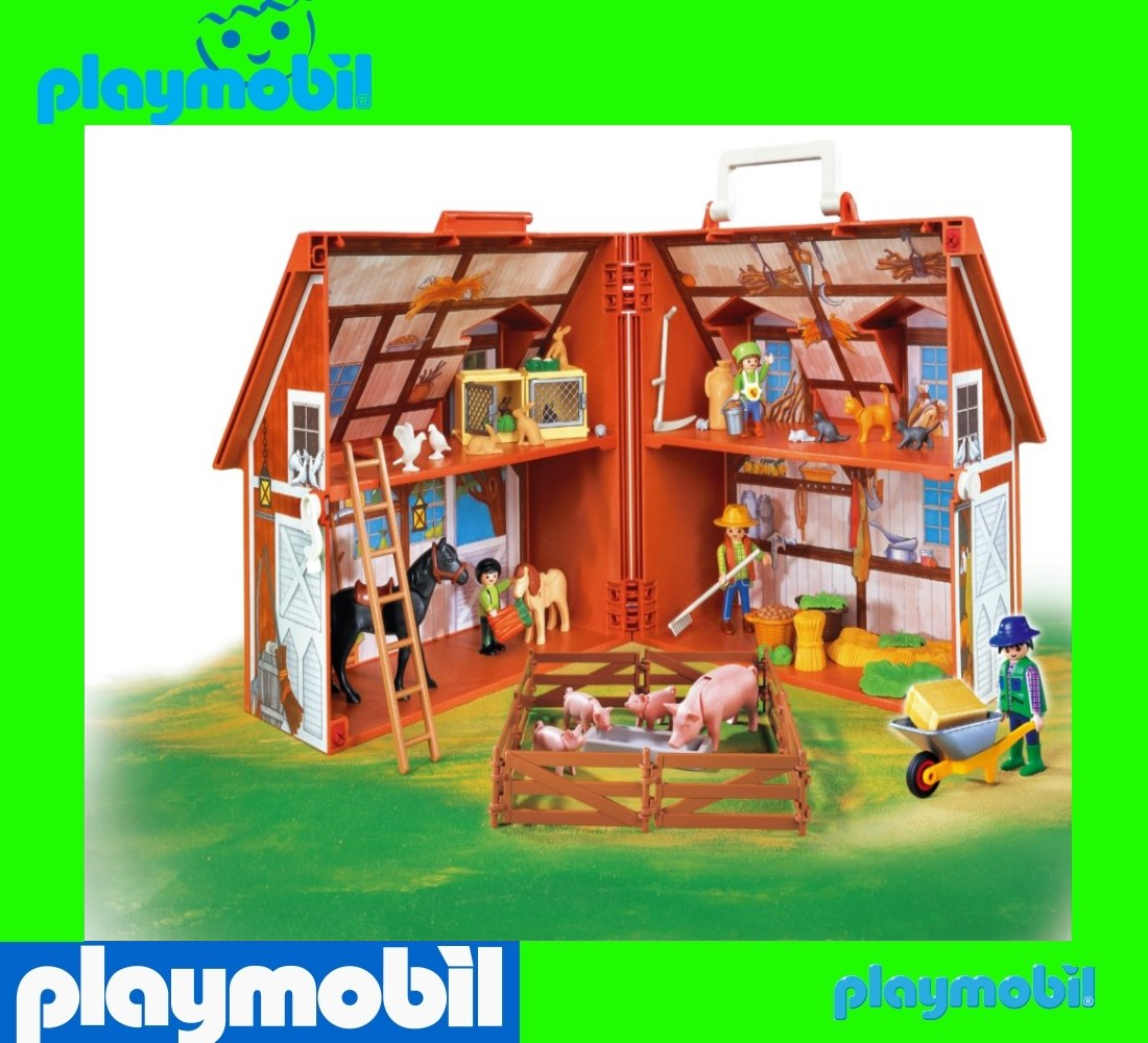 playmobil 4142 take a long farm misb bauernhof im koffer ab lager rostock ebay. Black Bedroom Furniture Sets. Home Design Ideas