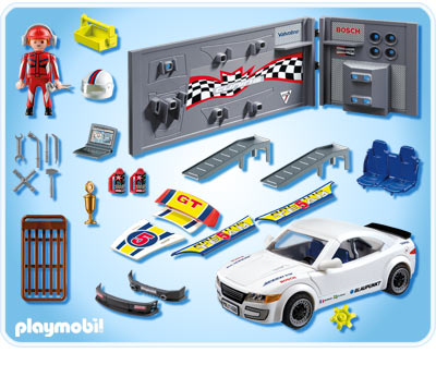 playmobil 4365 4366 tuning voiture de course avec la lumi re voiture de sport avec sound bnisb. Black Bedroom Furniture Sets. Home Design Ideas
