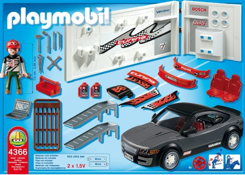 Playmobil 4365 4366 tuning voiture de course avec la - Voiture tuning playmobil ...