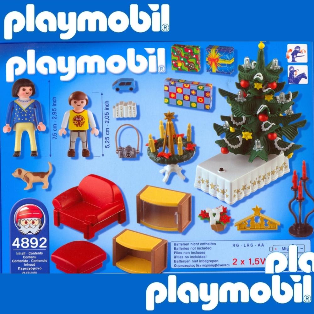 playmobil 4892 weihnachtszimmer christmas room tannenbaum. Black Bedroom Furniture Sets. Home Design Ideas