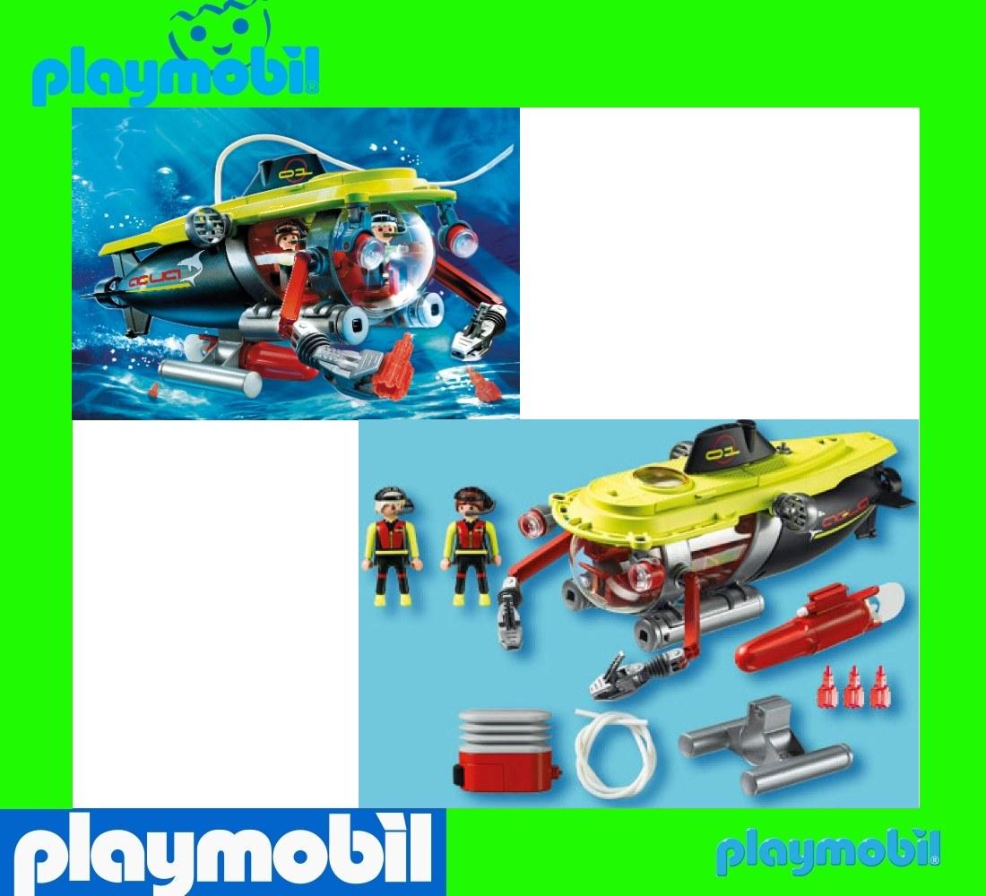 playmobil 4909 submarine deep sea diving submersible w. Black Bedroom Furniture Sets. Home Design Ideas